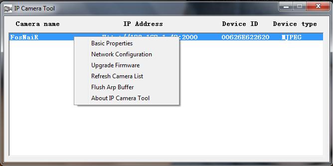 Foscam Configuration utility
