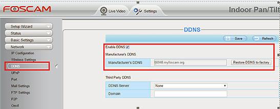 Foscam DDNS service