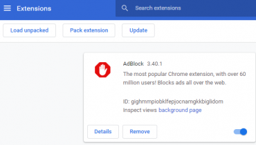 chrome extensions removal