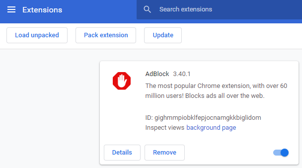 disable pop up blocker chromebook