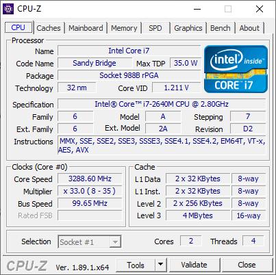 t420 i7 CPU
