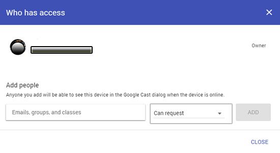 google cast invite users