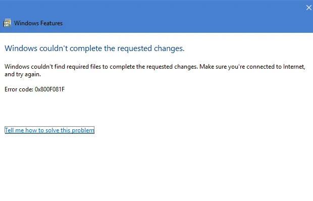 .net W10 error