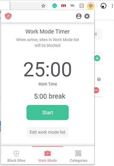 block it work mode
