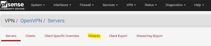 openvpn wizard