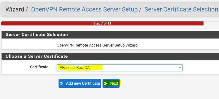 pfsense server certificate