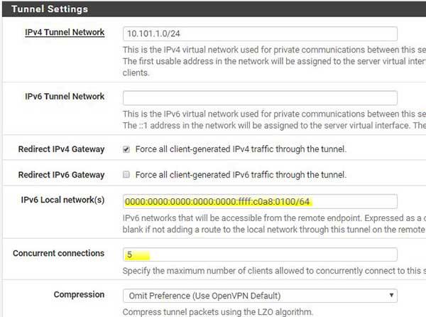 pfsense local network ipv6