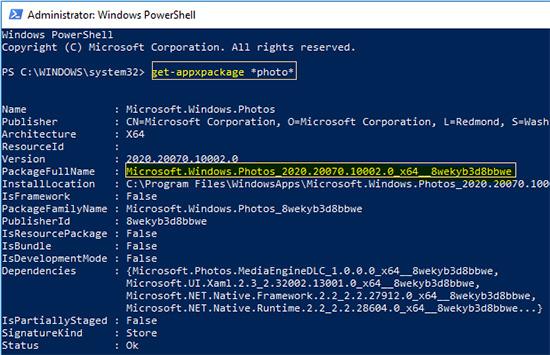 Windows 10 Photos App Removal PowerShell