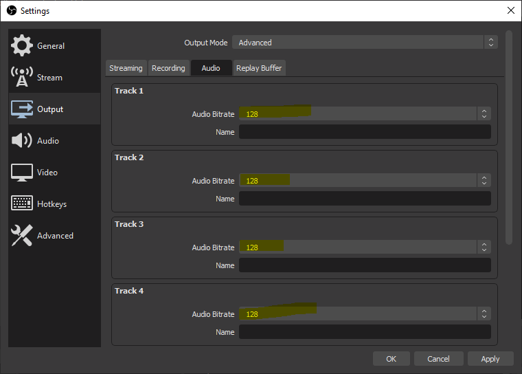 optimized streaming obs audio