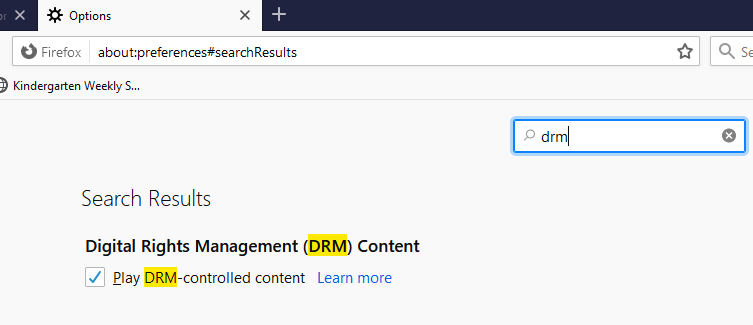 drm enable firefox