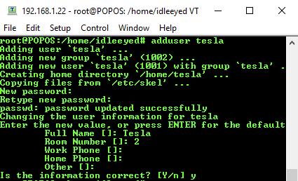add ssh user ubuntu