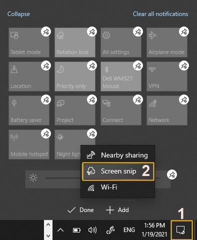 windows 10 screen snip tool