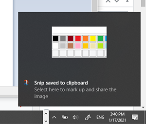snip and sketch win10