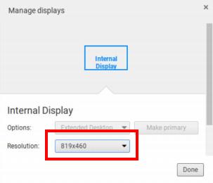 chromebook resolution settings
