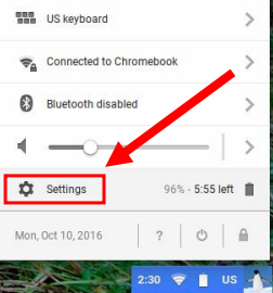 chrome screen resolution option