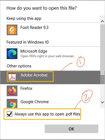 default pdf handler windows